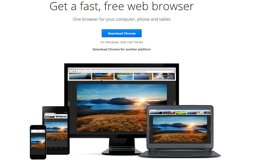 upgrade to google chrome 64 bit